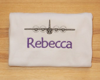 C-130 Airplane Embroidered Shirt Personalized Monogrammed girl or boy