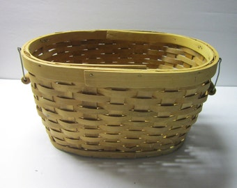 Vintage Basket with bail handles.. 12 x 9 x 8