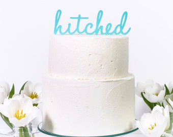 HItched Wedding Party Cake Topper