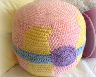 Crocheted Pokémon Pokéball Heal Ball Pillow