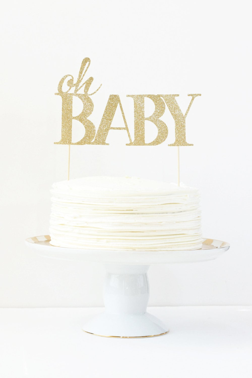 Baby Shower Cake Topper Oh Baby Cake Topper Gender Reveal