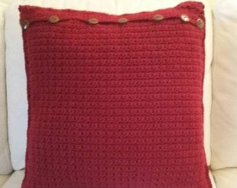 Claret Red Pillow Cover