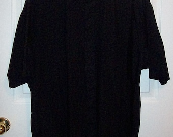 """Vintage Men's Black Collarless Clergy Shirt by Friar Tuck Extra Large 18"""" Neck Only 7 USD"""