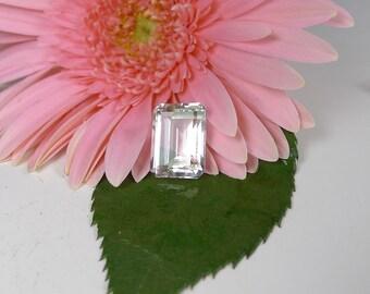 Emerald Cut, Emerald Cut Herkimer Diamond, Facated Herkimer Diamond, AAA Herkimer Diamond, Custom Made Jewelry, United States Gemstones