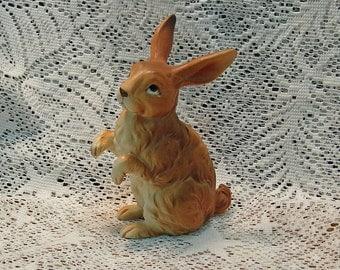 Vintage Lefton Brown Rabbit Standing Mint Condition