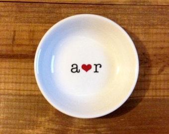 Ring Dish | Initials | Wedding Ring Holder | Engagement Gift | Jewelry Dish