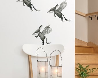 Bilby Angel Removable Wall Sticker | LSB0064CLR-RTL