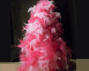 Pink Feather Tree Etsy - Pink Feather Christmas Tree