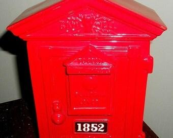 Vintage Fireman Call Box Decanter 1982 Union Made U.S.A.