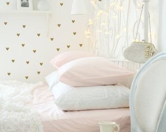 Heart Wall Decals | Gold Heart Decals | Peel & Stick Wall Decals | Nursery Decor