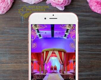 Indian Wedding Snapchat Geofilter - Get Hitched - Reception, Mehndi or Henna Night, Garba, Sangeet, Haldi or Pithi