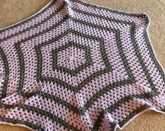 Baby blanket set hexagonal blanket with matching hat and booties