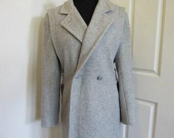 PRICE REDUCED Vintage Women's long light grey coat by Jill Jr.