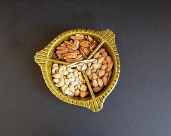 Avocado Green Nut Candy Relish Dish