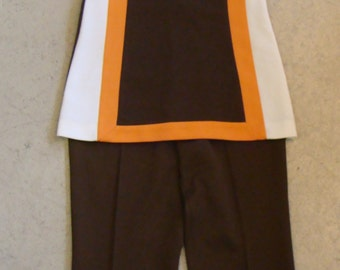 KORET CROPPED PANTS and sleeveless tunic top set S