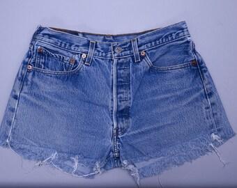 Vintage Levis Cut Offs Distressed Cut-off Jean Shorts W 30