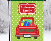 Christmas Yard Flag, Santa Yard Flag, Personalized Family Flag, Christmas Outdoor Decoration