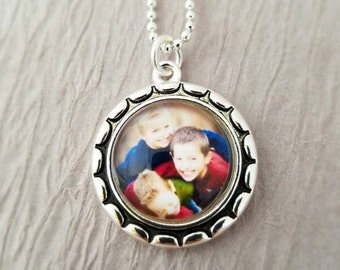 Child Photo Jewelry, Custom Photo Necklace, Personalized, Photo Pendant, Kids Picture Jewelry, Child Photo Jewelry Grandma Mom Necklace Gift