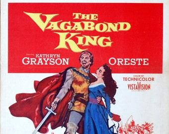 "Vagabond King. 1956 Original 14""x22"" US Movie Poster. Medieval Romance.Kathryn Grayson,Oreste, Rita Moreno,Cedric Hardwicke,Lelsie Nielsen."