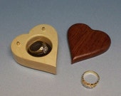 Valentine's Day Gift, Proposal Ring Wooden Box, Wedding Ring Box, Ring Box, Wooden Ring Holder.