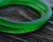 Jameson Whiskey Stacking Bracelet Set | Upcycled Glass Bottle Jewelry