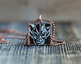 Stone Brewing Gargoyle Electroformed Copper Charm Necklace | Upcycled Craft Beer Bottle Jewelry
