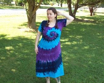 XL 2XL 3XL Tie Dye Dress - Plus Size Tie Dye Dress, River Tie Dye