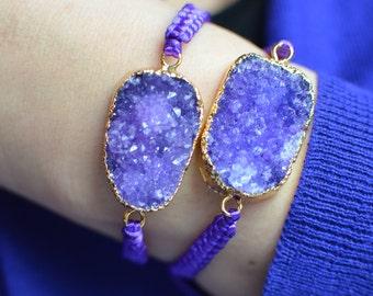 Amethyst Druzy bracelet