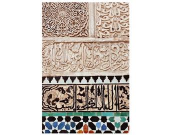 Morocco Pattern Photograph, Fine Art Print, Travel Photo, Ethnic Decor, Moroccan Mosaic Tiles, Islamic Art, Marrakesh, Large Wall Decor