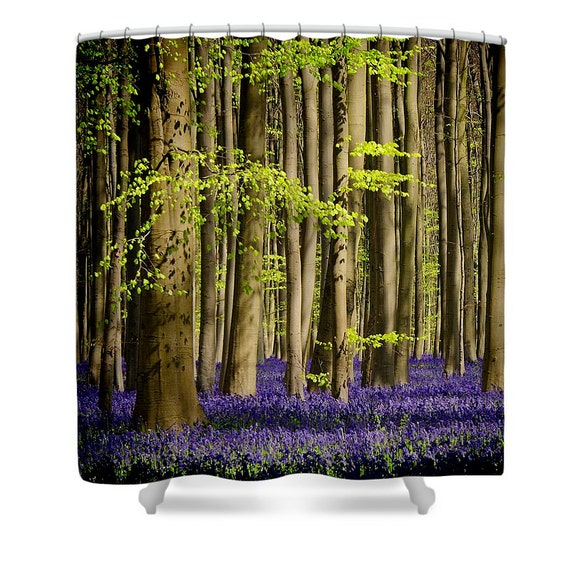 Shower Curtain Forest Nature Fairytale Bathroom By Studioyuki