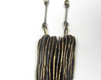 Forged Brass Ovals Pendant