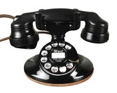 Vintage 1930s Western Electric Desktop Telephone, Rotary Dial, Beautiful, Refurbished, Working