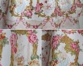 Bright Star Corset Skirt with Satin Ribbon, Boning, Rose Lace, Sweet Lolita