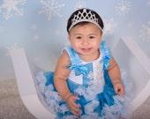 Silver Princess Crown - Baby Tiara - Newborn Baby Crown - Silver Glitter Crown - First Birthday Crown - Baby Headbands - Princess Crown