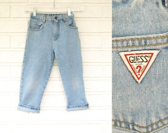Vintage 80s youth size faded guess jeans kids size 5