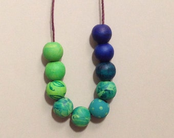 Handmade Wooden Bead Necklace
