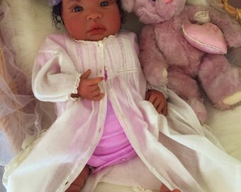 From the Biracial Shyann Kit  Reborn Baby Doll 19 inch Baby Girl Tasha Complete Baby Doll