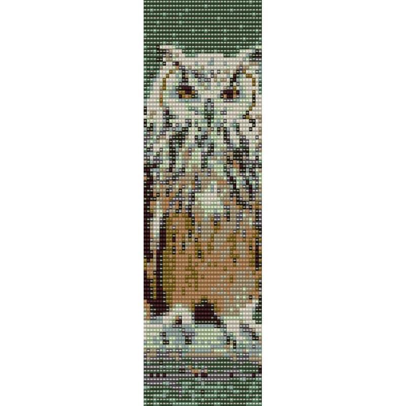 Owl 1 Loom Bead Pattern Bracelet Cuff Bookmark Seed