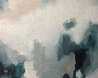 Original Oil Painting Pretty Blues II