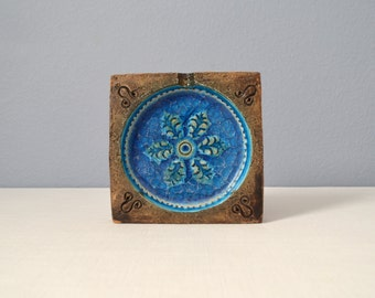 Mid Century Bitossi Fused Glass - Fritte Decor Ashtray