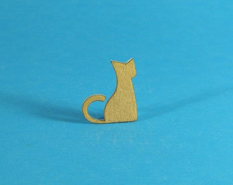Cute Sitting Cat Brooch, Cat Pin, Cat Brooch, Kitty Brooch, Under 10 gift, Brooch, Pin, Cat jewelry, Cat Gift, Cat Lover, CATS!, PINS!