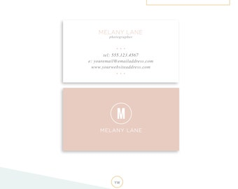 Business Card Template Etsy - Business cards template photoshop