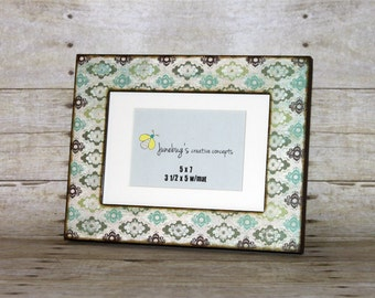 5x7 5x5 4x6 Shabby Chic Tapestry Photo Frame | Vintage Look Pattern Frame | Antique Tapestry Picture Frame | Country Cottage Photo Frame