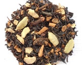 Organic Vanilla Bean Chai, Loose Leaf Black Tea,KERALA CHAI, Hand Blended, Vanilla, Cardamom, Ginger, Cinnamon, Caffeinated, 1oz Eco Box