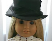 RESERVED American Girl Doll Clothes - Doll Hat - 19th Century Riding Hat
