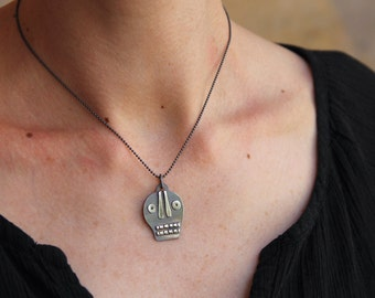 Silver Calavera pendant #8