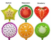 "Balloons  - 18 inch Fruit Balloon Orange Strawberry Kiwi Starfruit or Watermelon Balloon 18"" ( Birthday Decor & Party Balloon Supplies )"