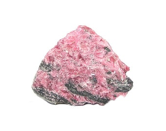 Rose Pink Rhodonite Crystalline Earth Science Specimen from the gem fields of Brazil, Geology Sample for your rock and mineral collection