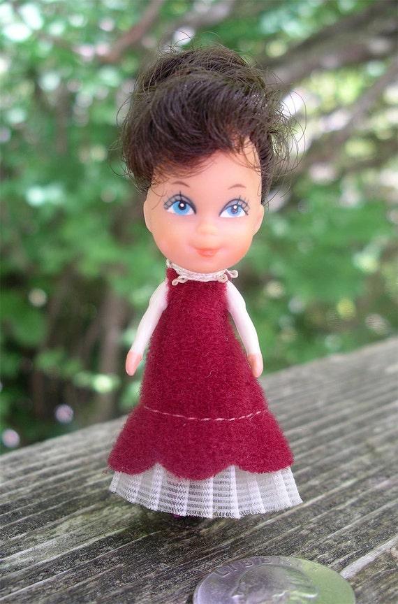 Vintage Mattel Littles Doll Mrs. Littles Tiny Body with Big