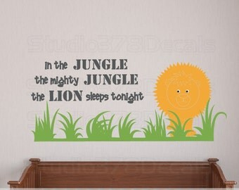Jungle wall decal | Etsy